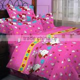 children bedding set, one quilt cover, one coverlet, two pillowslips 4 pcs,kids cartoon design