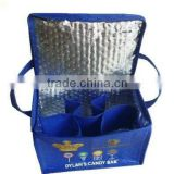 Non Woven insulated beer can cooler bag wine solar cooler box