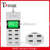 More than 8 usb charger platooninsert cellular phone charger 5 v2a multi-function fast plug gauge