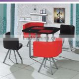 Metal Stainless Steel casual cafe tables and chairs wholesale yunzhang furniture