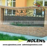 Galvanized or Power Coated Wrought Iron Metal Garden Fence Prices/Wrought iron fencing/Modern Welded Wrought Iron Fence