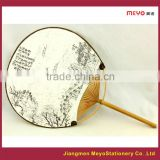 2015 Decorative Art Custom handmade Round Hand Fan for sales advertising                                                                         Quality Choice
