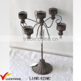 Table Version Retro Rustic candelabra centerpieces                                                                         Quality Choice