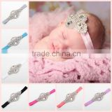 Hot-sales Baby girls headband with beaded elastic crystal headband nice rhinestone headband baby hair accessories wh-1804