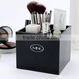 Customized Black Acrylic lipstick Holder Cosmetic Makeup Brush Organizer Display Stand Case