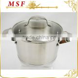 conical shape nylon satin polished stainless steel hot pot casserole for European market