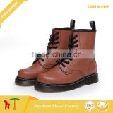 Full Grain Leather Marten Boots Hiking Ankle Boots for Girls Ladies