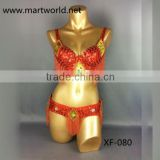 Latest style belly dance costume bra and belt (XF-080)
