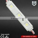 Super bright led lights 12v 24v 5050 smd led the lamp ce rohs smd 3 led module injection for taxi top advertising