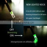 LED Lighted Arrow Nock 6.2-6.3mm Bowstring Activated on-off switch