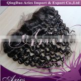Peruvian lace frontal loose wave 13x4 virgin lace frontal with baby hair virgin human hair silk base frontal closure
