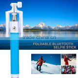Hot Extendable Handheld with clip Holder with bluetooth Camera Shutter Remote Controller Monopod Selfie Stick For Iphone