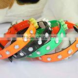 Nylon flashing led dog collar,high brightness led dog collar,cheap led pet collar for promotion