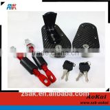 BLACK RACING Motor Flush Mount Hood Bonnet Pin Lock Kit KEY LOCKING UNIVERSAL