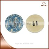 Fashion Bicycle printed blue wooden buttons 4 holes 3cm for fabric