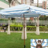 wooden color coated aluminum Garden Umbrella, decorative garden umbrellas, outdoor sun garden umbrella