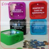 promotion and gifts Square/circle Break Glass electronic Kids Plastic Money saving Box