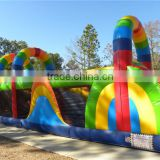 2015 inflatable obstacle on land, inflatable colorful obstacle