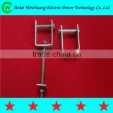 Hot dip galvanized D bracket D iron for insulator with bolts and nuts for overhead line fittings