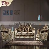French Luxury hand carved wooden furniture solid wood sofa