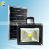 Factory hot!!!10w solar led flood light,rechargeable led flood light with outdoor solar led flood light with pir motion sensor