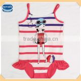 (R4758) SPW 2-8Y nova kids new design one piece summer swimsuit beachwear for baby girls
