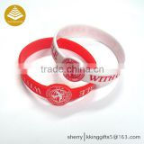 Custom made black rubber bracelets/ adjustable silicone wristband/ cool silicone wristband