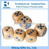 2016 Wooden Round Corner 50mm Blank Dice
