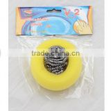 metal dish washing scrubber stainless steel scourer galvanized wire cleaning ball