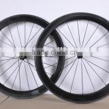 50mm carbon rim& 700c tubular carbon wheelset&super light&clear coating 3k finished