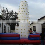 QH-CW-10-hot sale giant inflatable climing wall,climbing mountain inflatable rock climbing wall