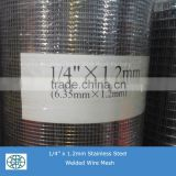 "1/2"" 1/"" 3/4"" 1"" 304 Stainless Steel Welded Wire Mesh for protection"