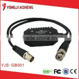Bnc video balun Video signal jamming device Coaxial Video Ground Loop Isolator YJS-GB001