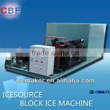 Industrial ice block making machine with ice crusher