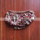 Chocolate satin ruffle kids diaper cover baby girl ruffle bloomer wholesale wholesale knit ruffle pants