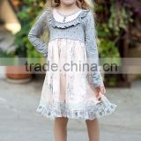 Baby girl flower dress lace cotton dress children clothing pink latest maxi dress
