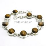 During My Success !! Tiger's eye 925 Sterling Silver Bracelet, Silver Jewelry, Indian Silver Jewelry