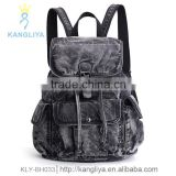 Big casual cowboy bags black jean backpack vintage-inspired travel bag