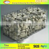 High performance hexagonal barriers price, galvanized gabion wire mesh , stone cage nets