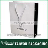 Custom white and black packaging shopping bag for the gift,apparel and shoes
