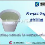 Pre-printing additive Auxiliary materials for wallpaper printing