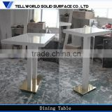 Modern commercial bar furniture Artificial stone high top Solid Surface acrylic bar table
