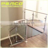 Top selling new design embedded profile stainless steel Balcony frameless glass balustrade