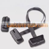 wire harness obd2 16 pin male and female connector extension Split Y cable for hand tool