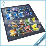 Factory Price Beautiful Butterfly 3D Custom Hologram Sticker, Holographic Laser Sticker, Reflective Anti Radar Sticker