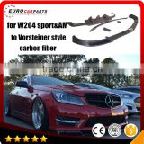 C63 carbon fiber parts fit for MB C-CLASS W204 Sport and C63 to V-style 2011year~ carbon fiber parts