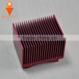 extruded aluminum enclosure, aluminum heat sink enclosure can be made in different color