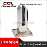 square Spigot stainless steel glass clamp