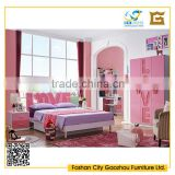 special design girls wood bedroom furniture sets in English letter style