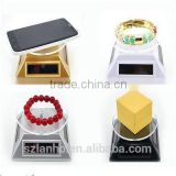 Solar Powered Rotating Jewelry CellPhone Display Turntable Plate engravable jewelry plates jewelry name plates